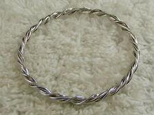 Bracelet (A56) Twisted Silvertone Bangle