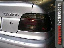 97-03 BMW 540 530 528 Smoked Tail light & Headlight Overlays Tint Film Vinyl E39