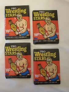 1985 Topps Pro Wrestling Stars WWF 4 Wax Packs Titan Sports Collector's Cards
