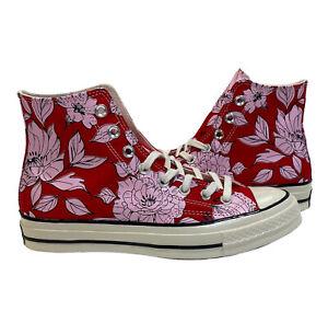 Women Converse Chuck 70 Vintage Floral Hi Top, 568373C size Uni Red/Cherry