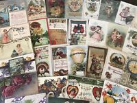Lot of 50~Postcards~Easter~Valentine~Thanksgiving~Xmas,Santa etc~in Sleeves-h203