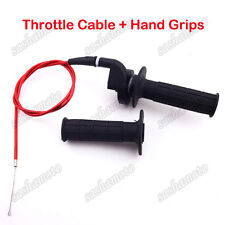 Twist Throttle Cable Handle Grips For Honda XR50 CRF50 XR70 CRF70 Pit Dirt Bike