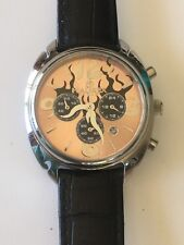 Working Ladies Silver Haurex Italy Flame Chronograph Watch   CE