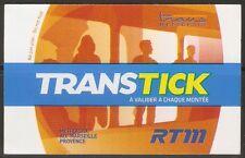 Ticket de bus, métro et tramway RTM de Marseille transtick solo
