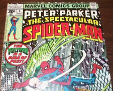 Peter Parker the Spectacular Spider-Man #4 vs Vulture from Mar 1977 in VG- con.