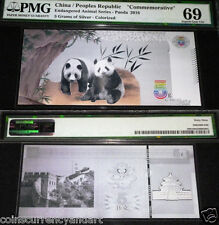 CHINA PMG 69 SILVER PANDA