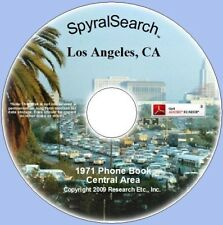 CA - Los Angeles Central Area 1971 Phone Book CD