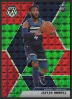 2019-20 Panini Mosaic GREEN and RED #212 Jaylen Nowell RC Rookie Timberwolves