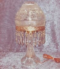 "AMAZING ANTIQUE/VINTAGE CUT CRYSTAL DOMED MUSHROOM LAMP 20"" TALL WORKS GREAT!"