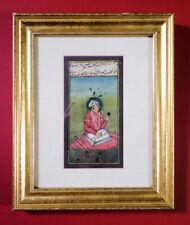 Miniature Portrait Of Emperor Shah-Jahan Painting Original Art On Paper