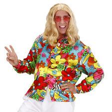 70er JAHRE HIPPIE HEMD Karneval Fasching Flower Power Herren Kostüm Party L 7397