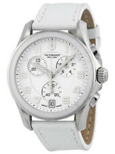 Swiss Army Chrono Classic Steel & Ceramic Womens Strap Watch White Dial 241500