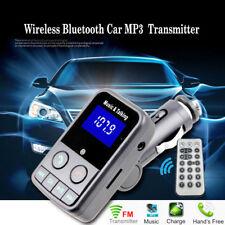 Bluetooth Car Mp3 Player Transmisor inalámbrico FM Radio USB remoto Aux TF USB