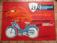 Affiche ancienne :  Mobylette BB  PEUGEOT par Vernier