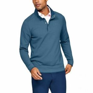 Under Armour Mens Storm Golf  Fleece Sweater Top Running Pullover  Blue