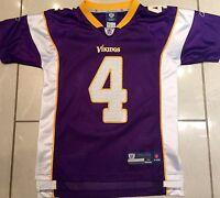 NEW Authentic Reebok Brett Farve Minnesota Vikings Youth Med (10-12) NFL Jersey