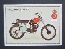 Vignette HUSQVARNA 250 CR PANINI Super Moto n°84 Sticker Aufkleber 1975