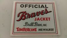 1950's Milwaukee Braves Official Jacket Tag From Brill Bros Never Sewn In Jacket