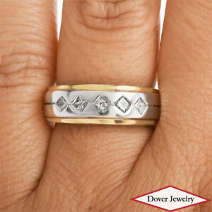 Estate 0.48ct Diamond 14K Gold Elegant Band Ring 5.7 Grams NR