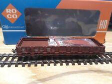 HO : WAGON MARCHANDISE à RIDELLES ROCO 4306 (DB) avec boite originale TBE