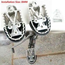 Retro Motorcycle Off-road Universal Stainless Steel Foot Peg Forefoot Pedals 8MM