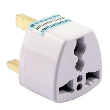 2Pc EU USA AUS UNIVERSAL TO UK TRAVEL ADAPTER 3 PIN AC POWER PLUG WALL CONVERTER