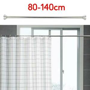 Extendable Telescopic Shower Curtain Rail Pole Rod Bath Door Window Curtain Rail
