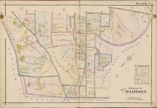 1910 MADISON MORRIS TOWNSHIP COUNTY NEW JERSEY, ST. VINCENT'S CEMETERY ATLAS MAP