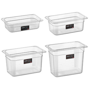 Transparent Professional 1/4Gn Gastronorm Food Container with Lid Polycarbonate