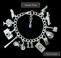 STRANGER THINGS CHARM BRACELET 12TH,13TH,16TH,18TH,21ST,30TH,40TH GIFT WITH BOX.