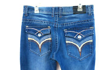 Kaalu Euro Mens Jeans Size 34x34 Medium Wash Threaded Pockets