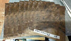 REAL WOOD VENEER X8 LARGE DARK WALNUT BURR SHEETS,DASHBOARDS,REFURBISHING,CRAFT