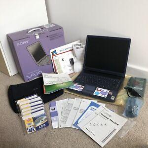 Rare Boxed (2003) SONY VAIO PCG-FR315B Celeron WinXP Retro Gaming Laptop WORKING