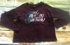 Gymboree 7 8 Creative Types Good Morning Sunshine Burgundy Top NWT