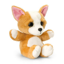 Korimco Chihuahua Sparkle Eyes Dog [20cm] - Brown White Soft Plush Toy NEW