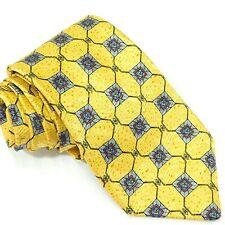 ROBERT TALBOTT Best of Class Geometric Yellow Gold Silk USA Men's Necktie