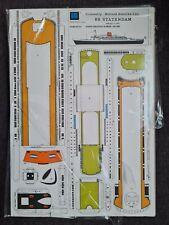 Kartonmodellbau Schiff SS Statendam, holländischer Transatlantikliner 1:350