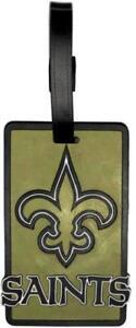 New Orleans Saints Travel Bag Tag Luggage ID Tag Team Colors NFL