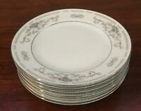 VINTAGE Fine China of Japan DIANE Porcelain Dinnerware 6-Piece Bread Plates