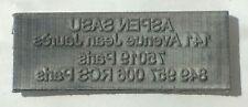 Empreinte TAMPON COLOP PRINTER 30  adhésive Plaque de texte 47 x 18 mm