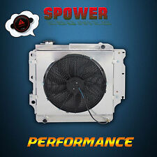Aluminum Radiator + Fan Shroud For Jeep Wrangler YJ TJ 1987-2006 RHD Manual Only
