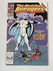 West Coast Avengers #45 (June 1989, Marvel) 1ST WHITE VISION WANDAVISION!