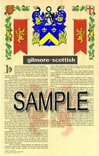 GILMORE Armorial Name History - Coat of Arms - Family Crest GIFT! 11x17