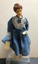 16� Wax Artist Made Reproduction Doll W/ Cloth Body By Bobi Clark 1985 #S