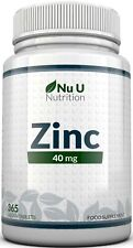 ZINC Tablets 40mg 365 Tablets (12 Month's Supply) Incredible Value