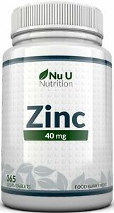 ZINC Tablets 40mg 365 Tablets Immune Support (12 Month's Supply)