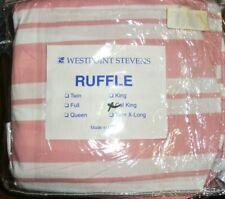 New VTG JC PENNY California King Dust Ruffle Bed Skirt Stevens Pink Stripe