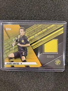 2021 Topps MLS Soccer Pedro Santos Gold /25 Patch Relic JR-PS Columbus Crew