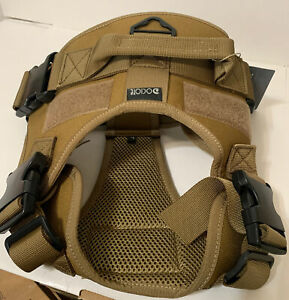 Dociote Tactical Dog Harness - Size L, Color - Olive Green.