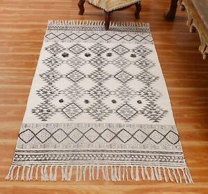 3x5 4x6 Hand block Printed Darrius Area Rug Antique Look Yoga Rugs Home Carpet